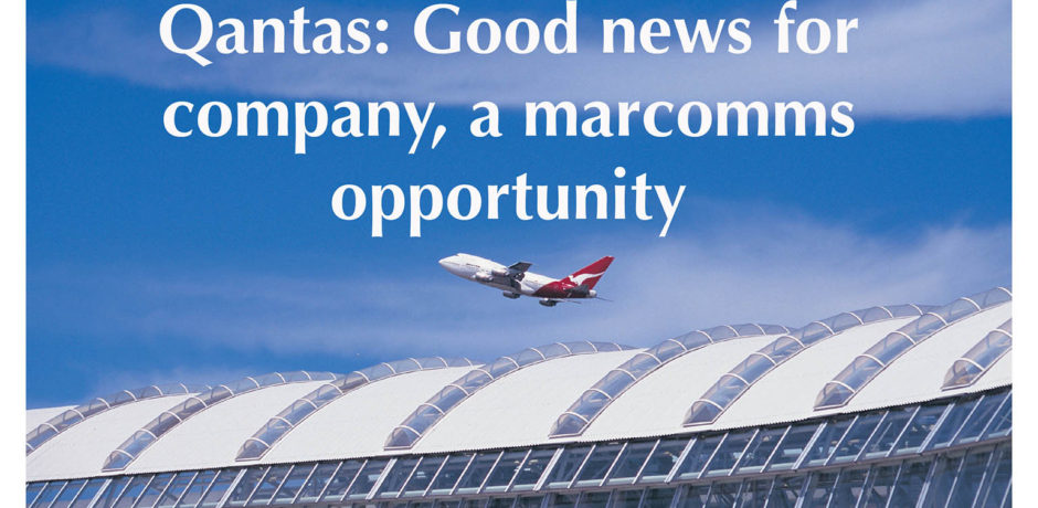Good news can be a great marcomms coup for Qantas